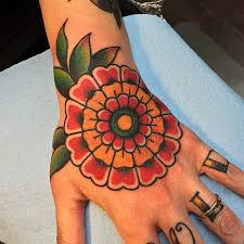 great flower hand tattoo best tattoo ideas gallery