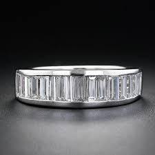 baguette wedding band platinum diamond baguette wedding band