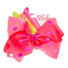 pink bows jojo siwa large pink purple polka dot hair bow s us