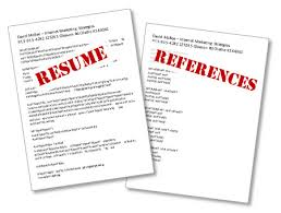 Resume And Reference Template Sensational Design Resume References Template 16 Sample
