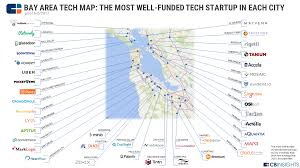 Map Of San Francisco Area by Tech U0027s Backyard The Most Well Funded Bay Area Tech Startups By