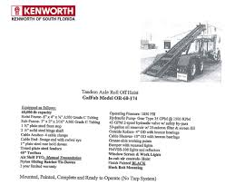 kenworth truck specs roll off trucks at kenworth of south florida commercial trucks