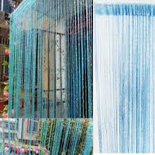 String Tassel Curtains Metallic String Curtain Fringe Panel Room Door Divider Strip