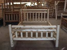 Tree Bed Frame Bedroom Rustic Bedroom Design With Oak Wooden Furniture And Grey