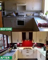 kitchen designers glasgow before u0026 after vetreo cashmere doors u0026 mistral worktop used