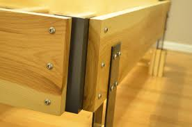 wood slat headboard and bed frame fabitecture