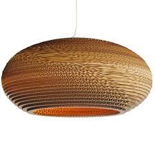 Hanging Lamps Graypants Hanging Lamp Disc 24 Cardboard Brown ø61x26cm