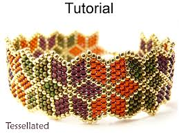 beading tutorial pattern bracelet brick stitch christmas