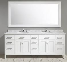 Bathroom Vanities With Marble Tops Abuetta 84 Inch White Finish Contemporary Bathroom Vanity Marble Top