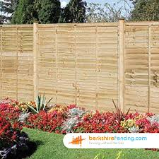 lap fence panels 5 5ft x 6ft natural berkshire fencing