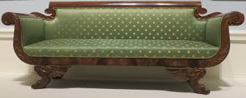 file american empire style sofa c 1820 30 wood mahogany veneer