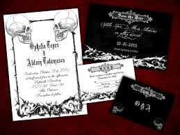 two souls gothic halloween wedding invitation save the date rsvp