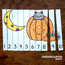 halloween counting number puzzles with 2 freebies kindergarten