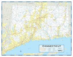Lyme Map Connecticut Highway Wall Map Maps Com