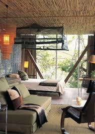 interior simple living room with african safari decor idea