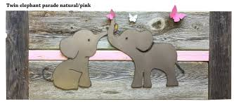 elephant twin nursery decor baby room decor twin elephants