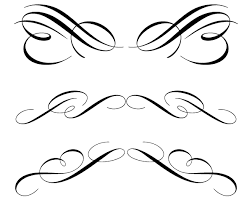 free calligraphic ornament clip 123freevectors