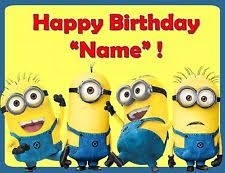 edible minions minion edible cake topper ebay