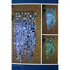 Outdoor Led Chandelier Lighted Solar Crystal Chandelier Dangler Blue Amazon Com