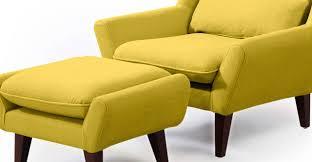 Yellow Chair Stuart Chair U0026 Ottoman Dijon Kardiel