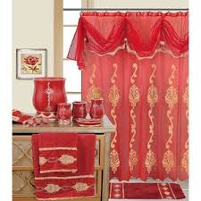 Shower Curtains With Red Red Shower Curtains You U0027ll Love Wayfair