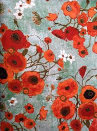 designer fabric karen tusinski designer fabric gallery fiori poppies by