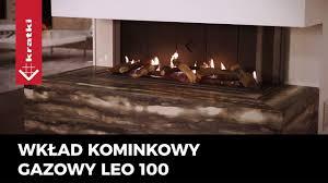 gas fireplace insert leo 100 polish producer gas burning lpg