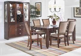 merlot finish transitional dining room table w optional items