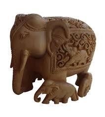 wooden elephant sculpture indian home decorative