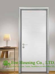 Interior Wood Doors For Sale 40mm Thickness Aluminium Office Doors Aluminum Frame Interior