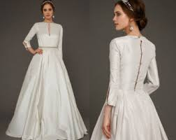 utta long sleeves wedding dress elegant tight fit wedding