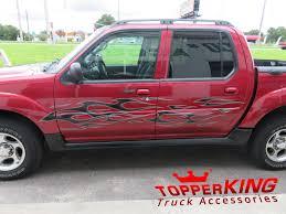 Ford Explorer Accessories - maroon sport trac rollin u0027 with smokin u0027 graphics topperking