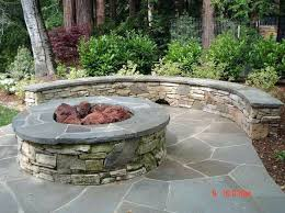 Backyard Fire Pits Designs by Stone Patio With Fire Pit Designs Images Of Backyard Fire Pits