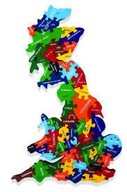 Britain Map Map Of Britain Map Jigsaw Puzzles Alphabet Jigsaws