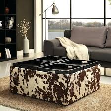 Printed Ottomans Printed Storage Ottoman And Beige Snow Leopard Upholstered Ottoman