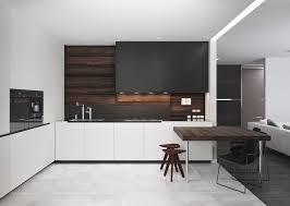 cuisine blanche et noir cuisine blanc et bois archaque foire cuisine blanc laqu cuisine