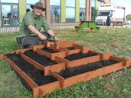 Backyard Planter Box Ideas Slot Together Pyramid Garden Planter 3 Steps With Pictures