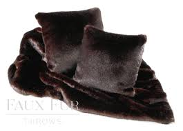 Faux Fur Bed Throw Bitter Dark Chocolate Luxury Faux Fur Bed Runner