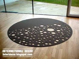 Black Round Rug Interior Design 2014 Contemporary Area Rugs How To Choose An