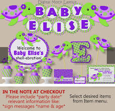 purple baby shower decorations turtle baby shower decorations or birthday girl purple