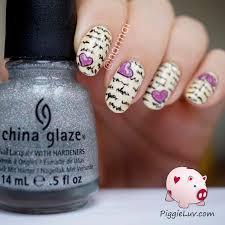 piggieluv love letter nail art hpb valentine u0027s day linkup