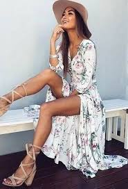 women u0027s white floral maxi dress beige suede gladiator sandals