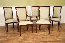 set of 6 solid mahogany transitional dining room chairs sale