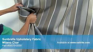 Washing Upholstery Fabric Video Of Sunbrella Milano Char Upholstery Fabric 56079 0000 Youtube