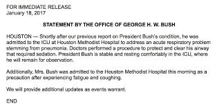 george h w bush in icu for pneumonia the daily beast