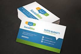 social media business card business card templates creative market