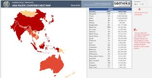 asia pacific heat map excel template automatic country coloring
