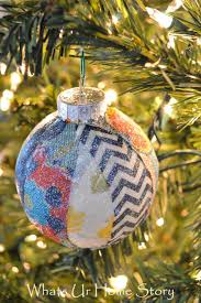fabric scraps christmas ornament whats ur home story