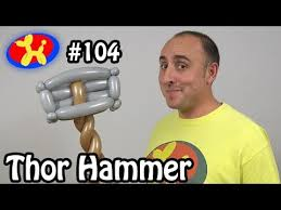 thor s hammer balloon animal lessons 104 youtube balloon