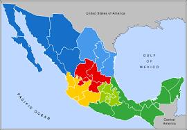 regions of mexico map atlas of mexico wikimedia commons